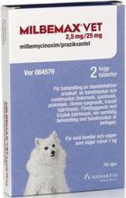 Milbemax vet., tuggtablett 2,5 mg/25 mg 2 st