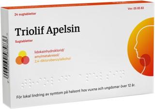 Triolif Apelsin, sugtablett 24 st