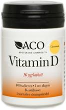 ACO Vitamin D 10 µg Citrussmak 100 tabletter