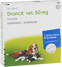 Bayer Animal Health Droncit vet. tablett 50 mg 2 st