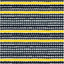 Räsymatto kangas keltainen-musta