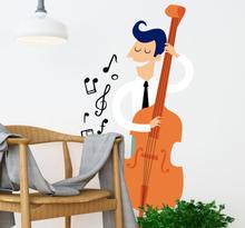 Muursticker Kinderkamer Cello
