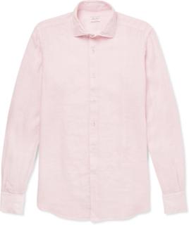 Slim-fit Linen Shirt - Pink