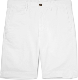 Stretch-cotton Bermuda Shorts - White