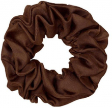 Hermine Hold Solid Scrunchie Brown