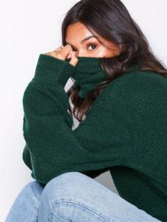 NLY Trend Chunky Roll Neck Knit Polotröjor Grön