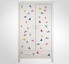 Set van 39 meubelsticker pastel kleurige driehoeken