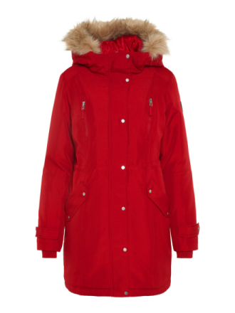 VERO MODA Winter Parka Women Red