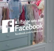 Aufkleber Folge uns auf Facebook
