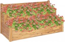 Plantekasse 2 etasjer 160x75x84 cm heltre akasie