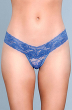 BeWicked V-Cut Lace Panties Blue XL Pitsi pikkuhousut