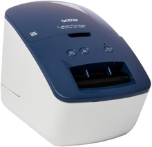 Labelprinter Brother QL600B 300 dpi 71 mm/s USB 2.0 Blå