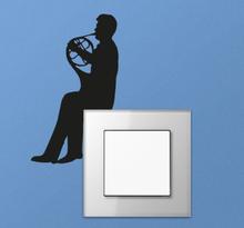Muursticker Trompetist lichtschakelaar