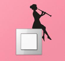 Muursticker lichtschakelaar muziekkant