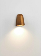 Mast Light Væglampe H13,5 cm 1 x GU10 LED IP65 - Malet messing