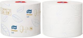 Toiletpapir Tork Mid-Size T6 PremSoft 2-lag 90m 127520 27rl