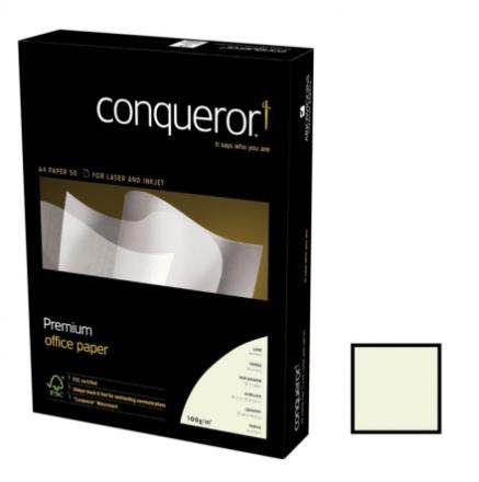 Kopipapir Conqueror Laid m/vandmærke og striber 100g A4 naturhvid 500ark/pak