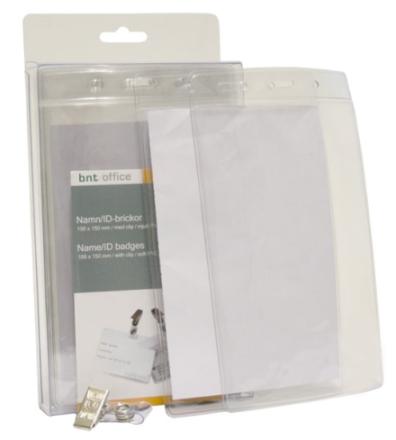 Navneskilte t/ID 100x150mm blød plast stående format