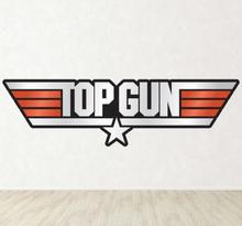 Top Gun Colour Logo Sticker