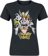 Looney Tunes - Bugs & Co -T-skjorte - svart