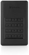 Verbatim Keypad access HDD 2TB USB 3.1 WITH 256-BIT AES HARDWARE ENCRYPTION