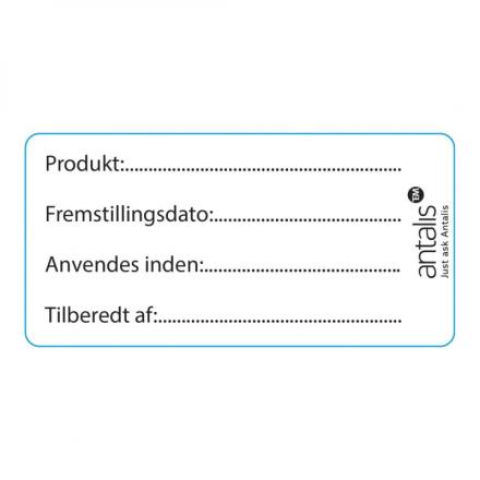 Label m.tryk fødevaregodkendt 60x30mm m.frostklæb 1000stk/rl