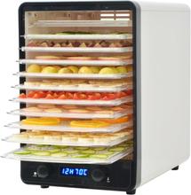 vidaXL fødevaredehydrator med 10 bakker 550 W hvid