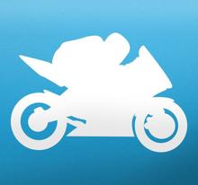 Biker Silouhette Sticker