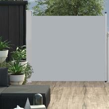 vidaXL Infällbar sidomarkis 100x300 cm grå