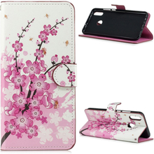 Huawei P Smart 2019 pattern leather case - Plum Blossom