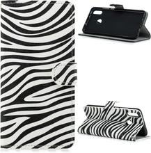 Huawei P Smart 2019 pattern leather case - Zebra Pattern