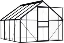 Drivhus antrasitt 190x250cm - 4,75 m²