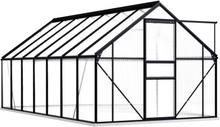 Drivhus med fundament 190x430cm - 8,17 m²