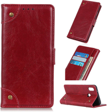 Huawei Y6 2019 nappa leather case - Red