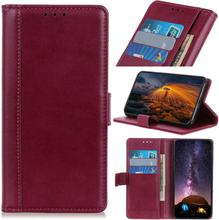 Huawei Y6 2019 simple leather case - Wine Red