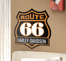 Wandtattoo Route 66 Harley Davidson