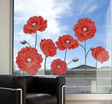 Raamsticker bloemen pioenrozen