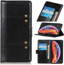 Crazy Horse Huawei Y6 2019 leather case - Black