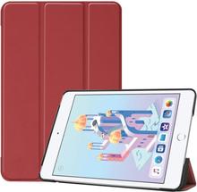 iPad Mini (2019) tri-fold leather case - Wine Red