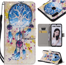 Huawei P Smart 2019 patterned leather case - Dream Catcher
