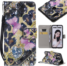 Huawei P Smart 2019 patterned leather case - Elegant Butterfly