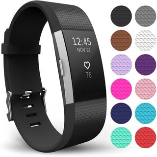 Armbånd til Fitbit Charge 2 - Svart - S