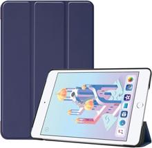 iPad Mini (2019) tri-fold leather case - Dark Blue