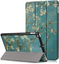 iPad Mini (2019) tri-fold pattern leather case - Apricot Flower Tree