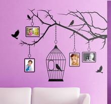Sticker vogels vogelkooi fotokaders