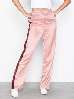 Topshop Popper Side Detail Trousers Bukser Pink