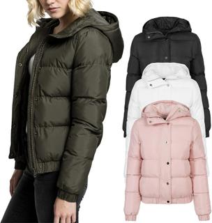 Urban classics damer - hooded buffert vadderad vinterjacka