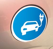 Aufkleber Elektroauto