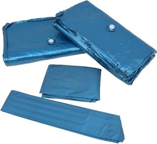 vidaXL madrassæt til vandseng med omslag og deler 200 x 200 cm F3