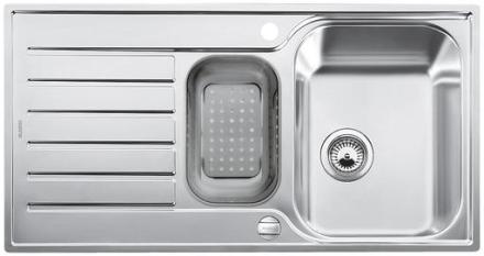 Blanco Lantos 6S-IF MX Køkkenvask 100x50 cm m/Skylleskål, Rustfrit stål
